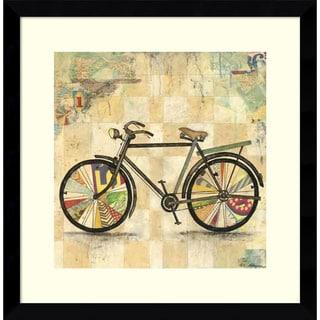 Framed Art Print 'Ride 2 (Bike)' by Wagner Jennifer 17 x 17-inch