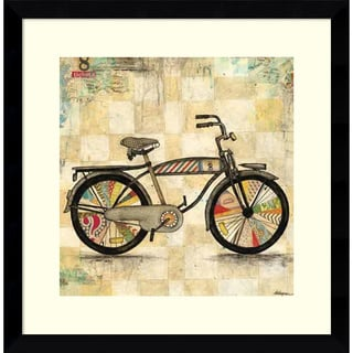 Framed Art Print 'Ride 1 (Bike)' by Wagner Jennifer 17 x 17-inch