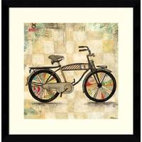 Framed Art Print 'Ride 1 (Bike)' by Wagner Jennifer 17 x 17-inch