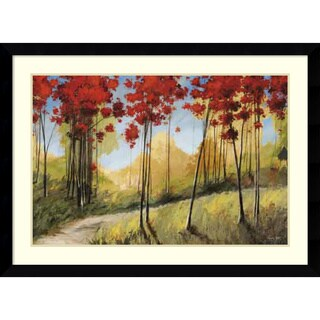 Framed Art Print 'Forest Trail' by Thomas Andrew 45 x 33-inch