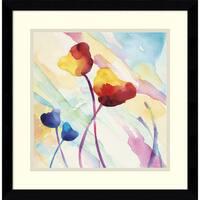 Framed Art Print 'Tilt Tulips II' by Deborah Lamotte 17 x 17-inch