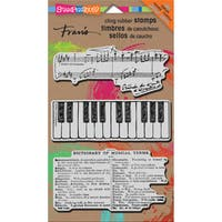 """Stampendous Cling Stamps 5""""X7""""-Musical Motif"""