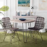 Safavieh Minerva Wicker Croco Brown Dining Chair (Set of 2)