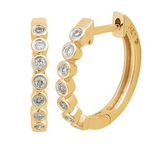 10-karat Yellow Gold Small Diamond Hoops