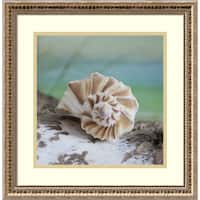 Framed Art Print 'Shell and Driftwood I' by Donna Geissler 19 x 19-inch