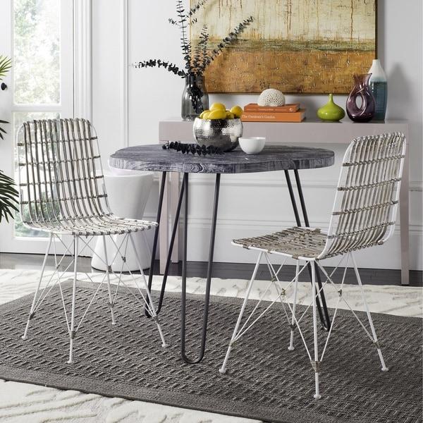 White Wicker Dining Chairs: Shop Safavieh Minerva Wicker White Wash Dining Chair (Set