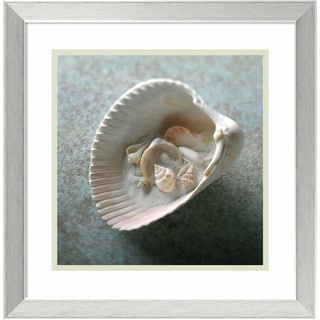 Framed Art Print 'Shells in Shell' by Glen & Gayle Wans 18 x 18-inch