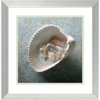 Framed Art Print 'Shells in Shell' by Glen & Gayle Wans 18 x 18-inch