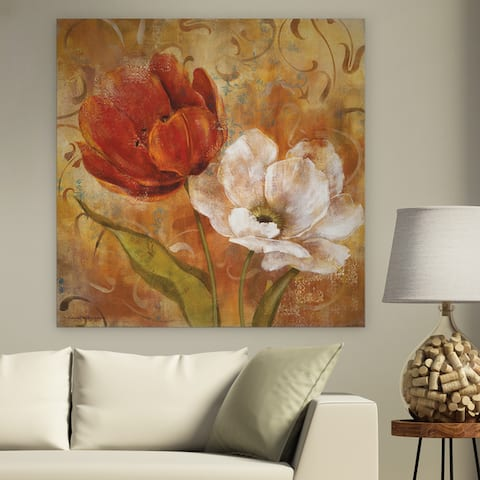 'Flower Duet II' Premium Gallery Wrapped Canvas (4 Sizes Available)