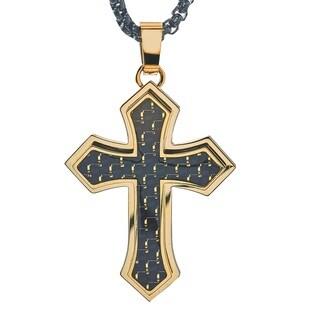 Men's Cross Pendant in Stainless Steel