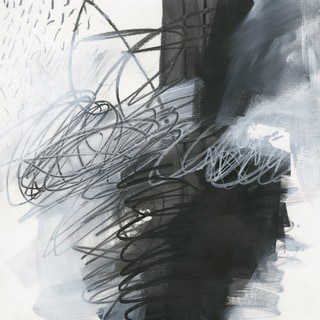 Hobbittholeco Jane Davies 'Whats Happening I' Gel Brush Finish Gallery Wrapped Canvas Wall Art Decor