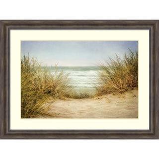 Framed Art Print 'Sea Grasses 1' by Dianne Poinski 49 x 37-inch