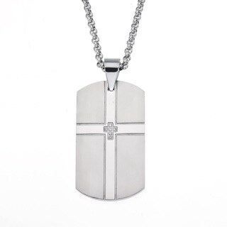 Men's Stainless-steel Dog Tag Pendant