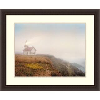 Framed Art Print 'Point Cabrillo Lighthouse' by Chris Honeysett 34 x 28-inch