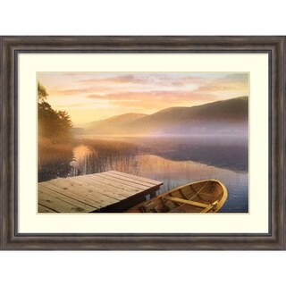Framed Art Print 'Morning on the Lake' by Steve Hunkiker 49 x 37-inch