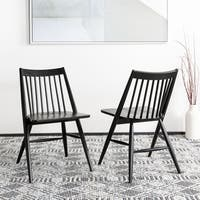"Safavieh Wren 19""H Black Spindle Dining Chair (Set of 2)"
