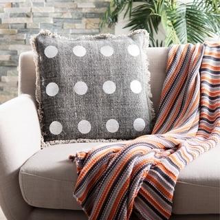 Safavieh Metallic Dots Charcoal Pillow