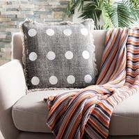 Safavieh Metallic Dots Charcoal Pillow