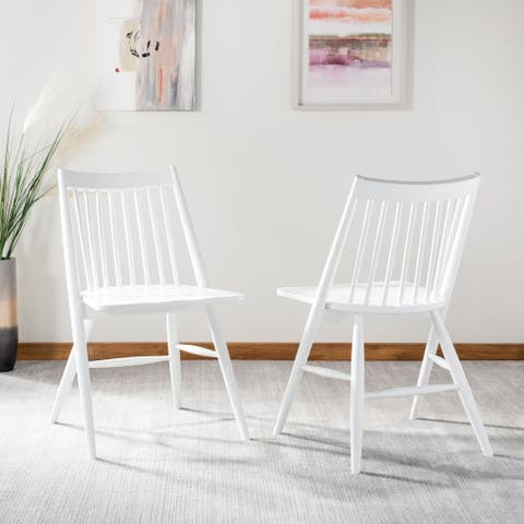 """SAFAVIEH Dining 19-inch Wren White Spindle Dining Chair (Set of 2) - 21"""" x 21.9"""" x 33.7"""""""