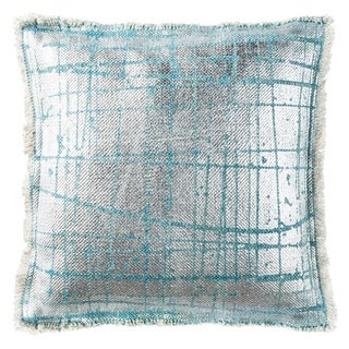 Safavieh Metallic Grid Artic Denim Pillow
