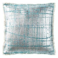 Safavieh Metallic Grid Artic Denim Pillow