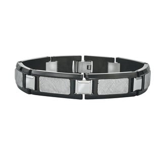 Ever One Men's Black Stainless Steel Bracelet