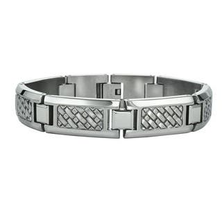 Ever One Men's Stainless Steel Weave Bracelet|https://ak1.ostkcdn.com/images/products/14429743/P20996054.jpg?impolicy=medium