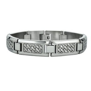 Ever One Men's Stainless Steel Weave Bracelet