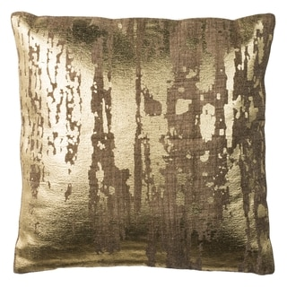 Safavieh Metallic Splatter Golden Caramel Pillow