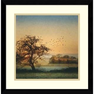 Framed Art Print 'Good By Day Birds' by William Vanscoy 17 x 17-inch