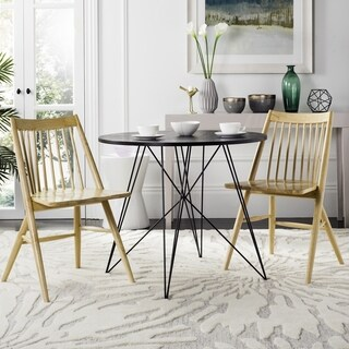 """Safavieh Wren 19""""H Natural Spindle Dining Chair (Set of 2)"""