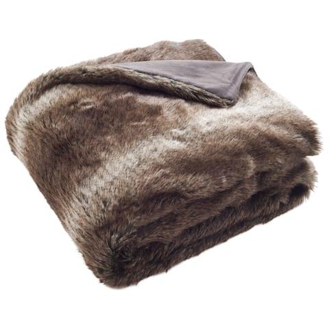 Safavieh Faux Luxe Brick Chocolate 50 x 60-inch Throw Blanket