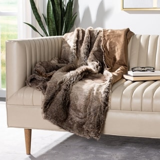 Link to Safavieh Luxe Sheen Coco 50 x 60-inch Throw Blanket Similar Items in Blankets & Throws