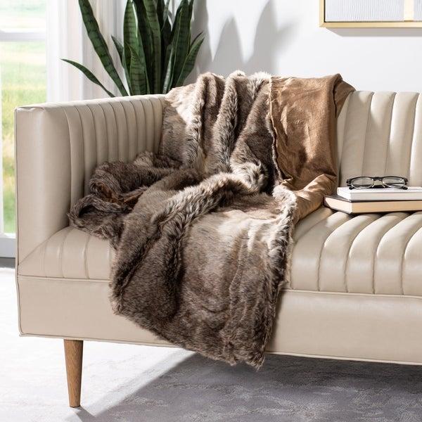 Safavieh Luxe Sheen Coco 50 x 60-inch Throw Blanket