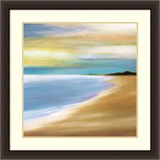 Framed Art Print 'Distance' by Mary Johnston 34 x 34-inch