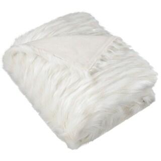 Safavieh Luxe Feather White Throw