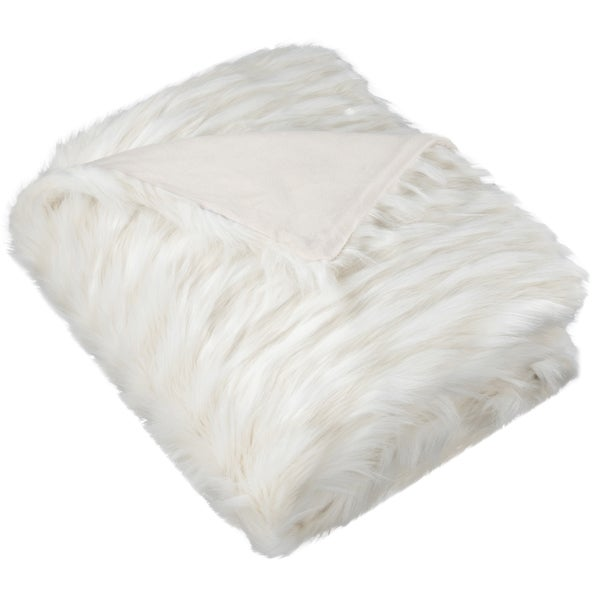 Safavieh Luxe Feather White Throw