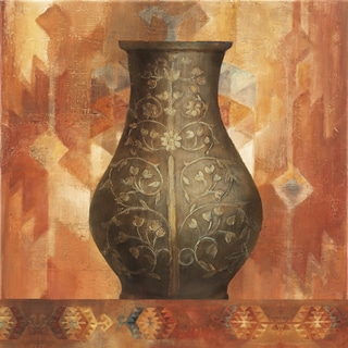 Albena Hristova 'Desert Sunset Vessel I' Gel Brush Finish Gallery Wrapped Canvas Wall Art Decor