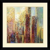 Framed Art Print 'City Daybreak' by Ekaterina Ermilkina 33 x 33-inch