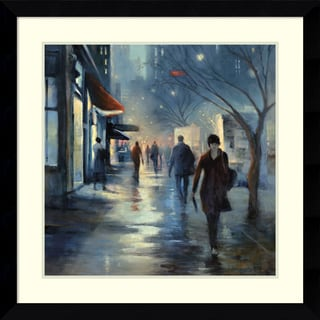 Framed Art Print 'Broadway at Dusk' by Carol Jessen 33 x 33-inch