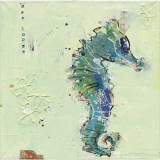 Kellie Day 'Little Seahorse' Canvas Print Canvas Gallery-wrapped Wall Art Decor - 24 x 24
