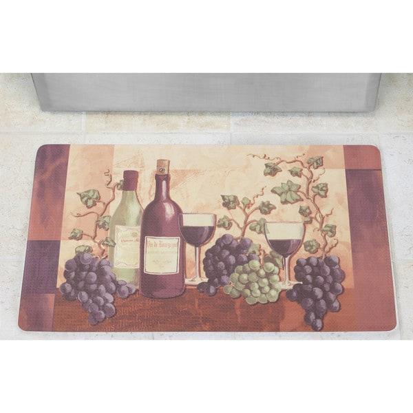 Chef Gear Cabernet Anti-Fatigue Gelness Printed Kitchen Mat (2' x 5')