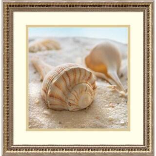 Framed Art Print 'Beachy Shell III' by Donna Geissler 18 x 18-inch