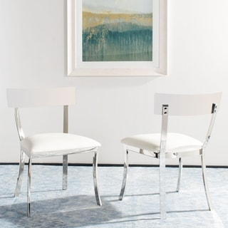 "Safavieh Abby 19""H White Dining Chair (Set of 2)"