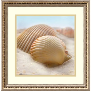 Framed Art Print 'Beachy Shell I' by Donna Geissler 18 x 18-inch