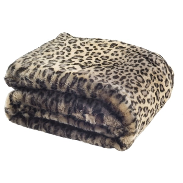 Safavieh Faux Black Leopard Leopard Throw