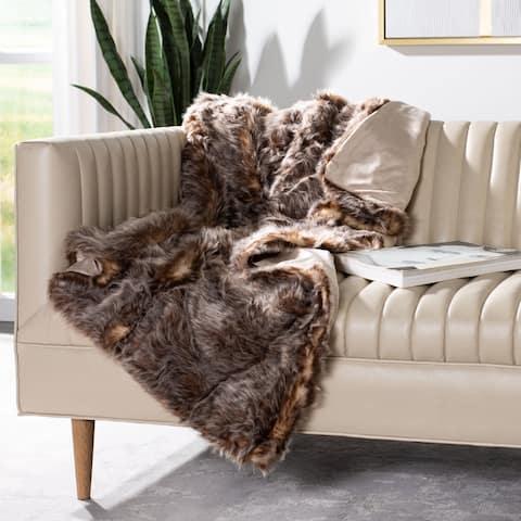 Safavieh Dusty Fur Grey 50 x 60-inch Throw Blanket