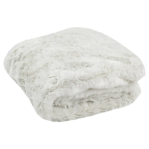 Safavieh Faux Chinchilla Snow White Throw