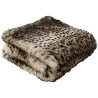 Safavieh Faux Leopardis Brown / Black Throw