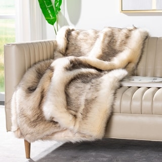 Safavieh Coco Tips Taupe Throw